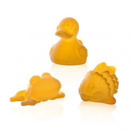 POND - raw natural rubber bath toys trio